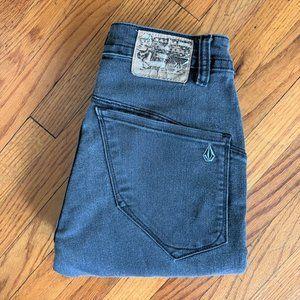 Volcom Nova Solver Modern Straight Black Jeans